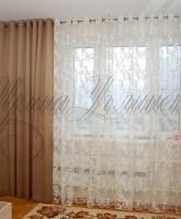 асимметричные шторы для спальни