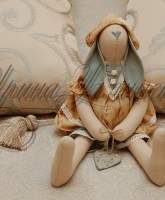 декоративный заяц из ткани