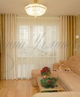 фото штор для гостиной на люверсах