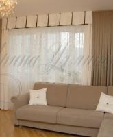 фото штор в гостиную комнату с ламбрекеном