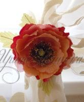 шторный цветочный подхват мак