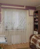 фото штор для детской комнаты девочки в сиренево-молочной цветовой гамме с декоративными элементами и вышивкой