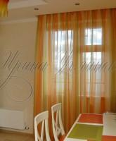 шторы для кухни в оранжевой цветовой гамме