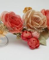 фото цветочной композиции из ткани для декорирования штор