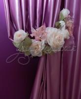 фото шторы с подхватом из цветов