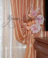 цветы из ткани в нежно розовой цветовой гамме