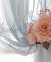 фото декоративного подхвата , цветы из ткани