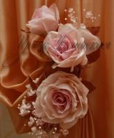 цветочная композиция для декорирования штор