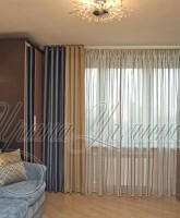 шторы для гостиной в современном стиле на люверсах