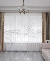 шторы для гостиной в нейтральных тонах