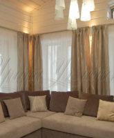 красивые фото штор для гостиной загородного дома