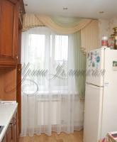 шторы для кухни асимметричные