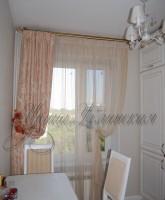шторы для кухни бежевые