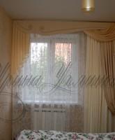 шторы для спальни с жестким ламбрекеном
