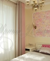 шторы на люверсах для спальни