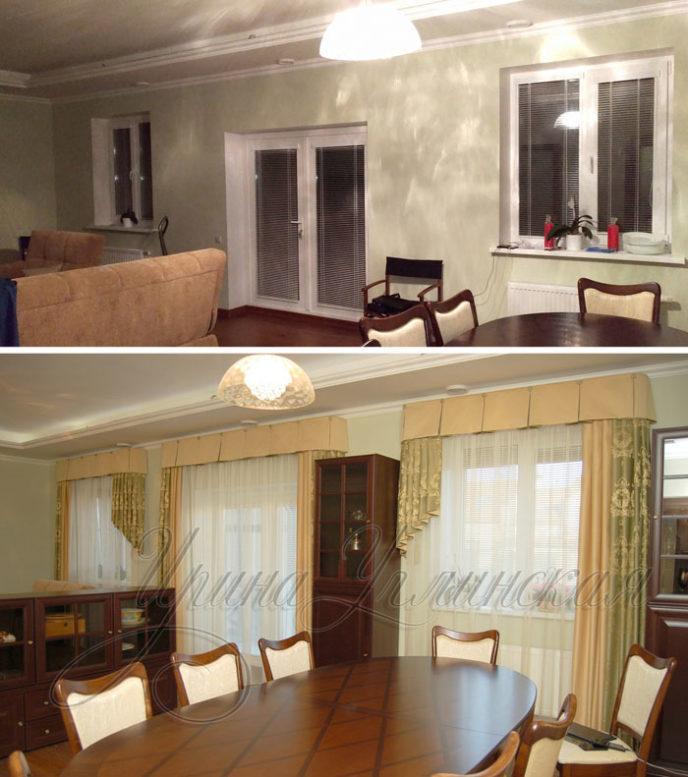 шторы в гостиную комнату фото
