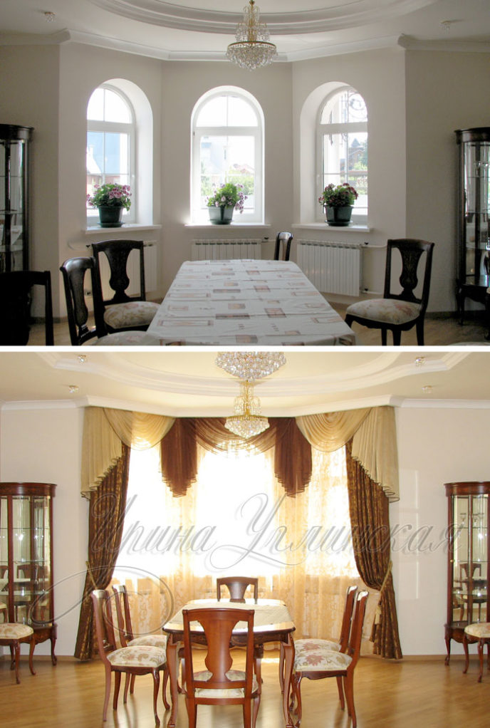 шторы для гостиной после пошива