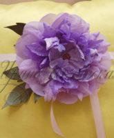 цветок из ткани для штор