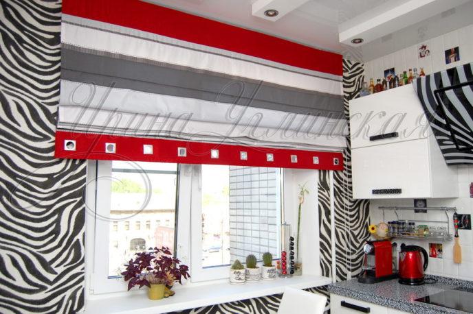 римская штора в кухню