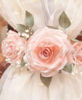 украшение штор цветами из ткани