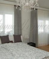 шторы на петлях в современном стиле для спальни