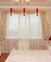красивые классические шторы для спальной комнаты