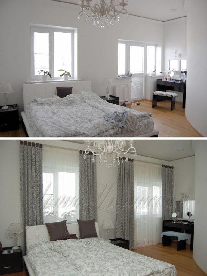 шторы на петлях для спальни
